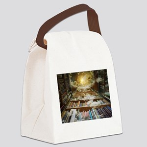 Library In the Sky Canvas Lunch Bag