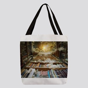 Library In the Sky Polyester Tote Bag
