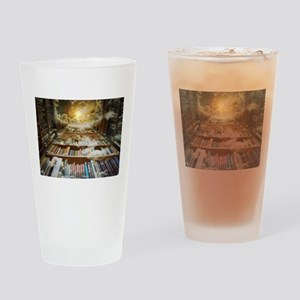 Library In the Sky Drinking Glass