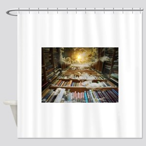 Library In the Sky Shower Curtain