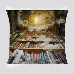 Library In the Sky Woven Throw Pillow