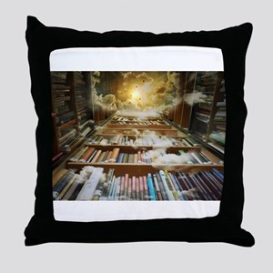 Library In the Sky Throw Pillow