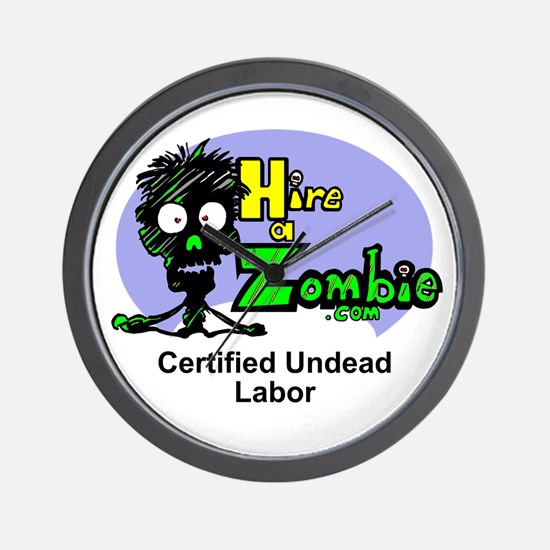 Funny Zombie Undead Labor Job Wall Clock