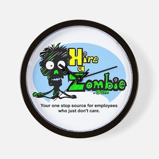 Funny Hire Zombie Labor Wall Clock