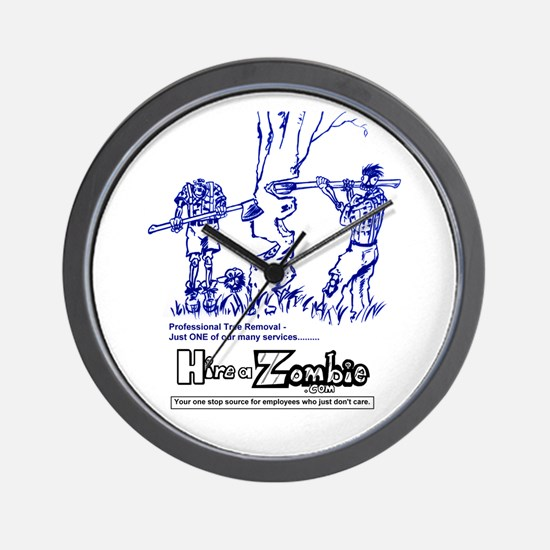 Funny Zombie Lumberjacks Wall Clock