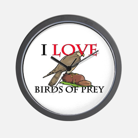 I Love Birds Of Prey Wall Clock