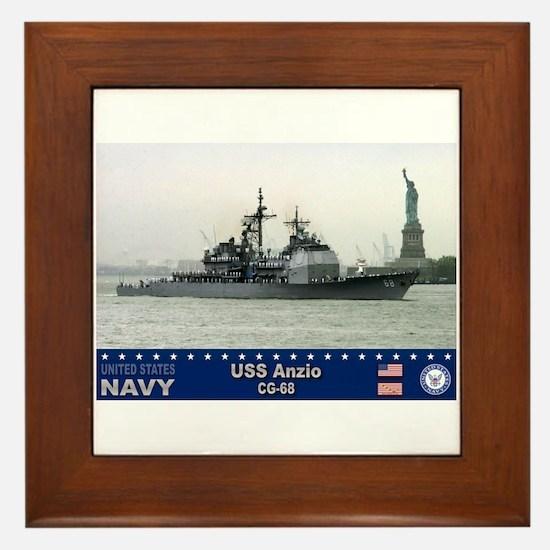 USS Anzio CG-68 Framed Tile