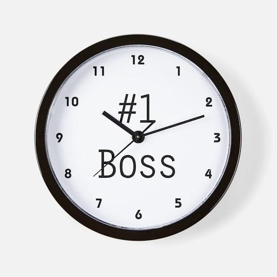#1 Boss Wall Clock