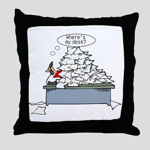 Office Humor Throw Pillow