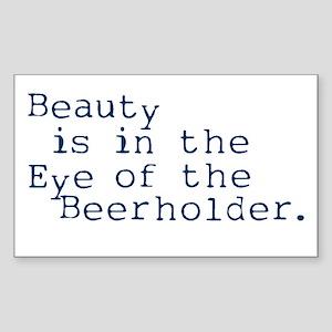 Eye of the Beerholder Rectangle Sticker