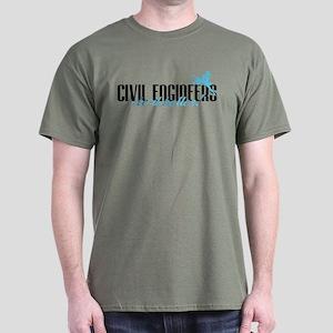 Civil Engineers Do It Better! Dark T-Shirt
