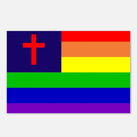 Gay Christian Flag Postcards (Package of 8)