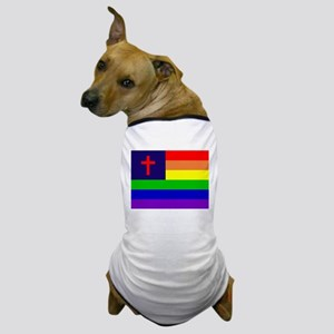 Gay Christian Flag Dog T-Shirt