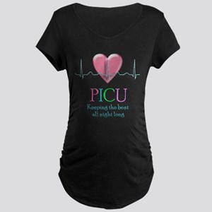 PICU Keeping the beat all night Maternity T-Shirt