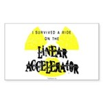 Survived Linear Accelerator Rectangle Sticker