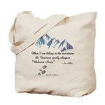 Hiking Mountains Universe Tote Bag