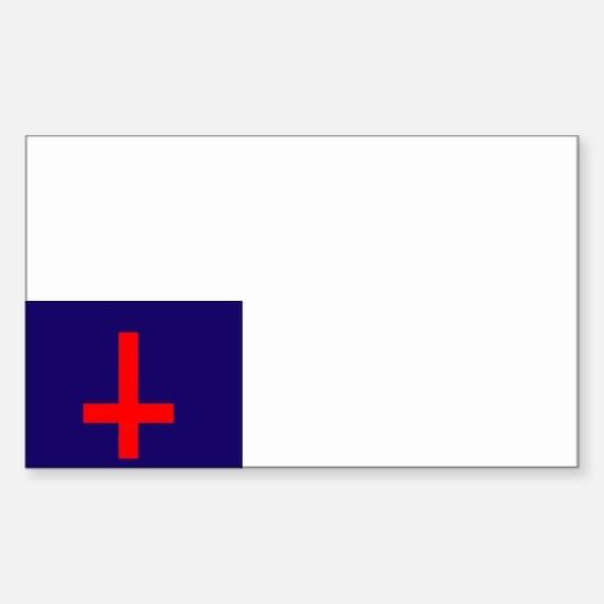 Un-Christian Flag Rectangle Decal