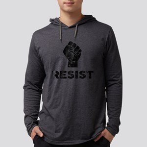 Resist Fist Distressed Long Sleeve T-Shirt
