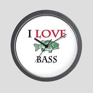 I Love Bass Wall Clock