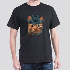 Cat Kitty Kitten In Clothes Pipe Monacle C T-Shirt