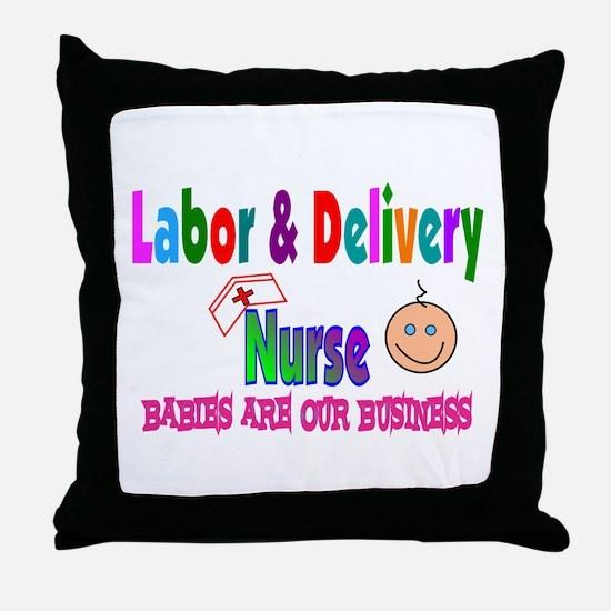 Labor & Delivery Nurse Throw Pillow