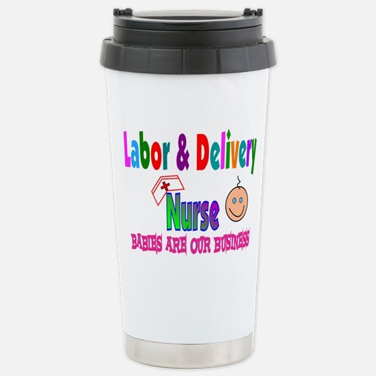 Labor & Delivery Nurse Stainless Steel Travel Mug