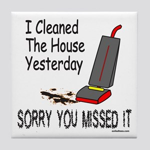 HOUSE CLEANING Tile Coaster