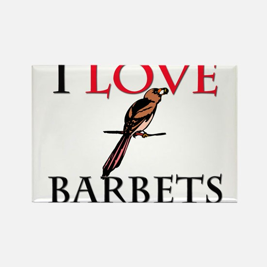 I Love Barbets Rectangle Magnet