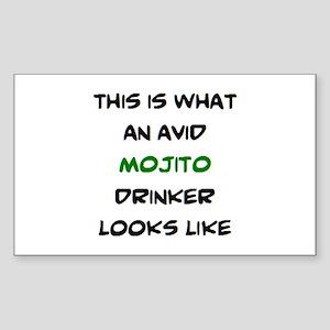 avid mojito drinker Sticker (Rectangle)