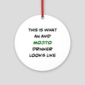 avid mojito drinker Round Ornament