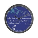 Hiking Mountains Universe Wall Clock