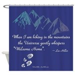 Hiking Mountains Universe Shower Curtain