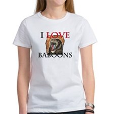 I Love Baboons Women's T-Shirt