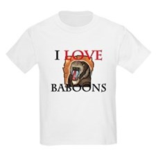 I Love Baboons Kids Light T-Shirt