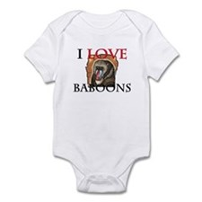 I Love Baboons Infant Bodysuit