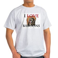 I Love Baboons Light T-Shirt