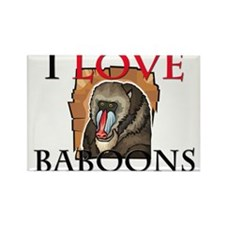 I Love Baboons Rectangle Magnet