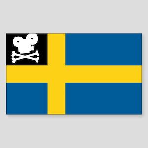 Movie Pirate Swedish Flag Rectangle Sticker