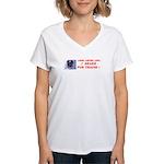 I Brake For Trains Women's V-Neck T-Shirt