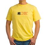 I Brake For Trains Yellow T-Shirt