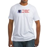 I Brake For Trains Fitted T-Shirt