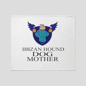Ibizan Hound Dog Mother Throw Blanket