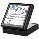 Hiking Mountains Universe Keepsake Box