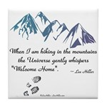 Hiking Mountains Universe Tile Coaster