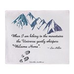 Hiking Mountains Universe Throw Blanket