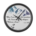 Hiking Mountains Universe Large Wall Clock