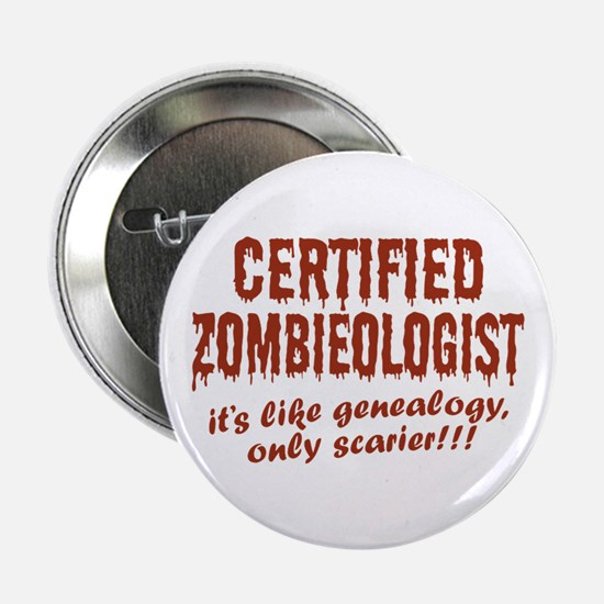 """Zombieologist 2.25"""" Button"""