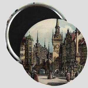 Old Munich Cityscape Magnet