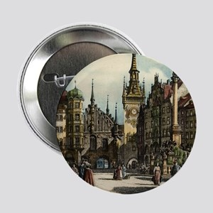 "Old Munich Cityscape 2.25"" Button"
