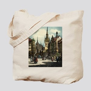 Old Munich Cityscape Tote Bag
